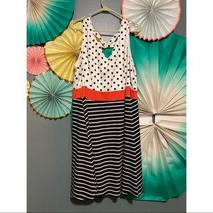 modcloth polka dot / stripe pattern dress